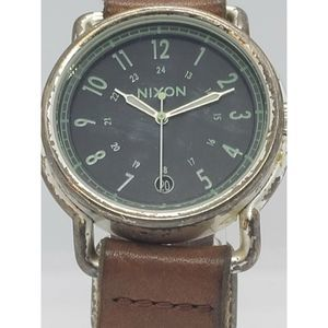 "Nixon ""The Axe"" Mens Watch Brown Leather"